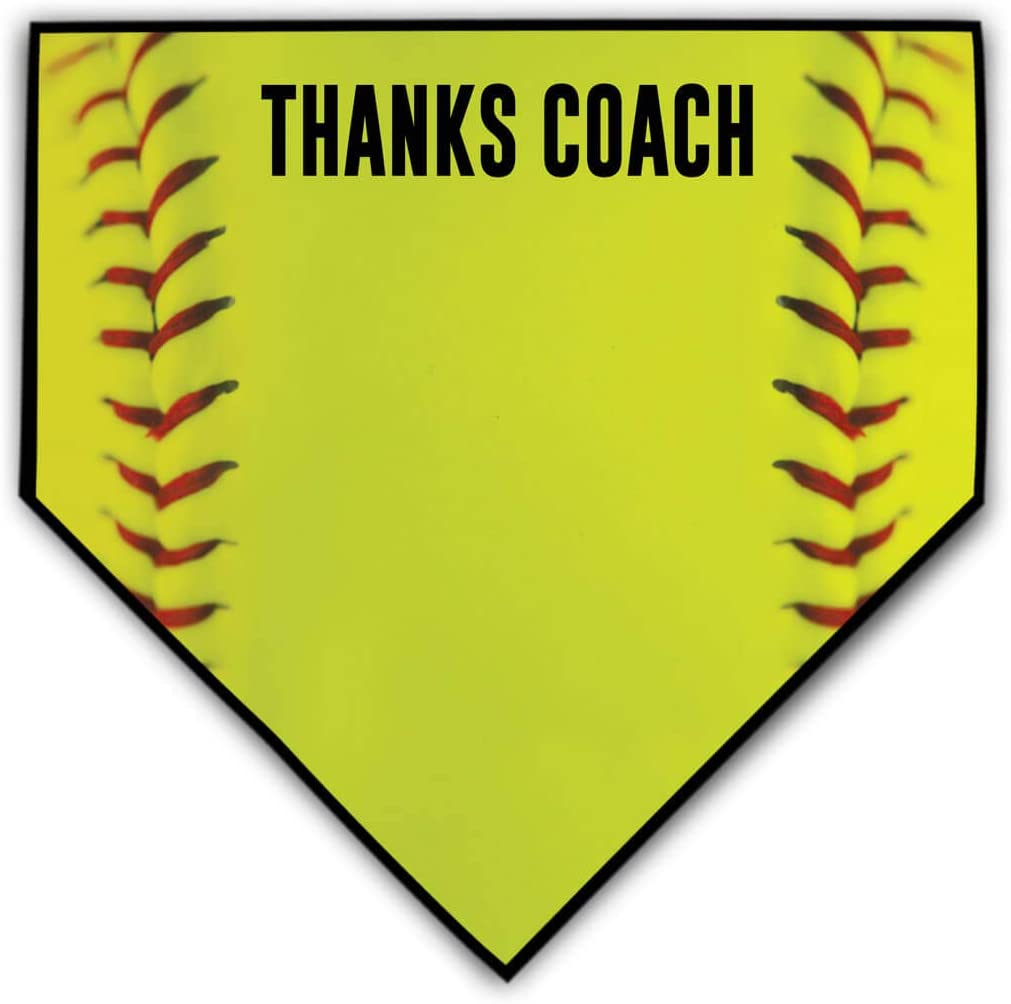ChalkTalkSPORTS Softball Coach Home Plate Plaque | Thank You Coach | Ready to Autograph