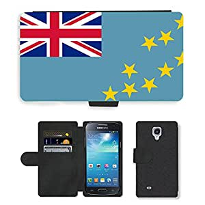 GoGoMobile PU LEATHER case coque housse smartphone Flip bag Cover protection // V00001179 Tuvalu Bandera Nacional País // Samsung Galaxy S4 Mini i9190