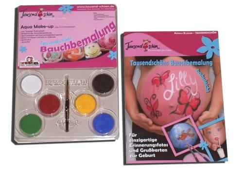 Eulenspiegel Tausendschön Bauchbemalungs-Set mit Schminkfarben von Eulenspiegel, Bellypainting