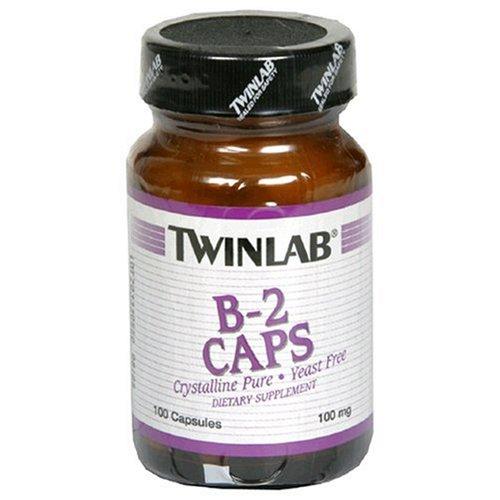 Twinlab B-2 Caps 100 mg, 100 Capsules (Pack de 4)