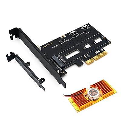 ZYX NGFF(M.2) NVME PCI-E SSD to PCI-E 3.0X 4X Adapter Cooling Fan Low Profile Bracket Desktop by ZYX