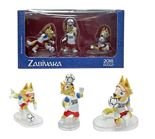 - IE Sokhatskiy Zabivaka Official Mascot of FIFA 2018 in Gift Box : Set #3 (Zabivaka Header) of 3 Figures.