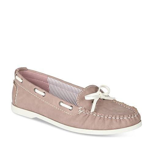 VIA DONNA - Mocasines de Material Sintético Mujer, rosa (Rose), 38: Amazon.es: Zapatos y complementos