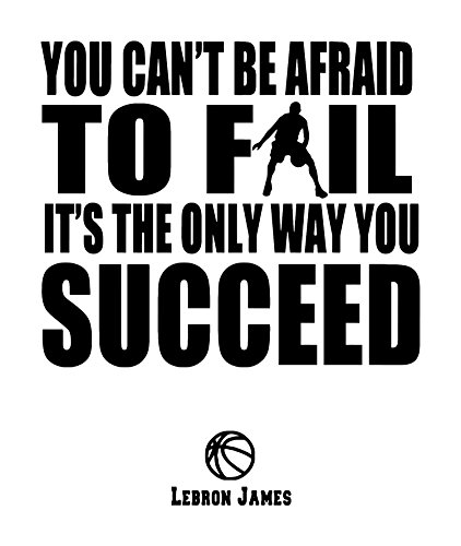 Success Quotes Wall Art Decal of All Star NBA Basketball Player James is a Vinyl Wall Art Decal. - Soft Pink ()