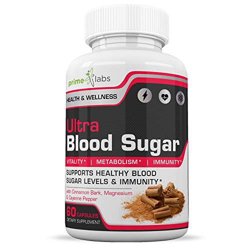 Blood Sugar Support Supplements – Natural Sugar Control and Blood Regulator Supplement with Cinnamon Bark, Magnesium, Cayenne Pepper – Boost Vitality and Manage Blood Sugar – 60 - Regulator Blood Sugar