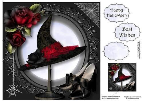 Halloween Elegance 8x8 by Anne Lever Craftsuprint