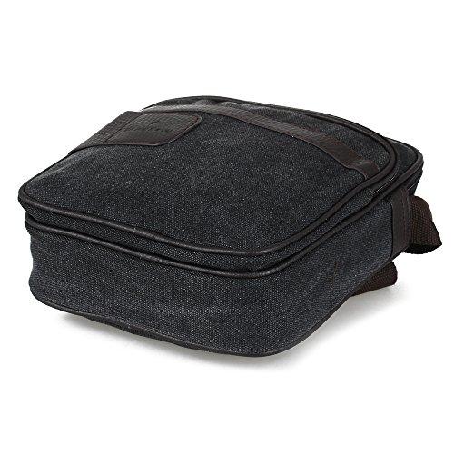 Herren Tasche Schultertasche Umhängetasche Aktentasche Leinwand 22x8x26cm