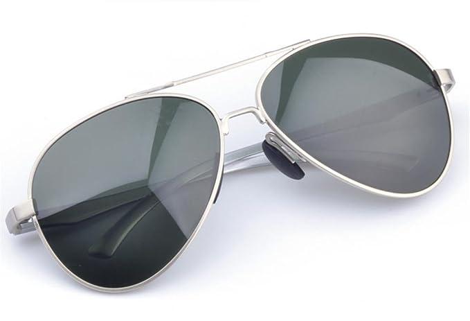 MNII Nouveaux Lunettes de Soleil Polarisées Homme Conduite Miroir , silver- Apparence de mode, assurance qualité