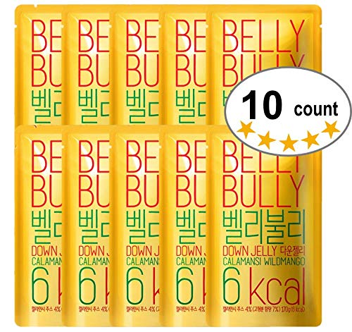 10 Count, Belly Bully Down Jelly-Dietary Supplement for Weight Loss, Appetite Suppresants (Wild Mango, 10 Count)