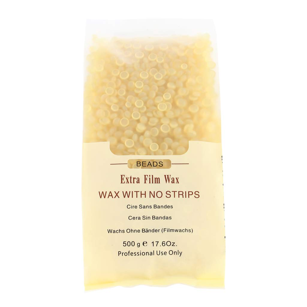 Prettyia Natural Hard Wax Hair Removal Waxing Beans for Bikini Body Facial Hair on All Skin Types - Easy Depilatory & No Strips Required - 500g - Chocolate, 500g