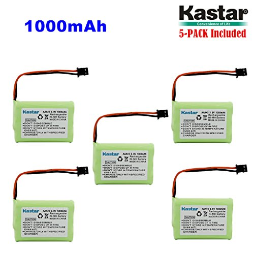 Kastar 5-PACK AAAX3 3.6V MSM 1000mAh Ni-MH Rechargeable Battery for Uniden Cordless Phone BT-446 BT446 BP-446 BP446 BT-1005 BT1005 TRU8885 TRU8885-2 TRU88852 TRU8888 TRU9460 TRU9465 TRU9480 TCX-800 by Kastar