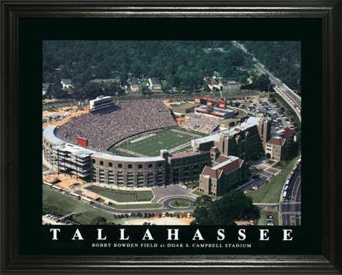 Florida State Seminoles - Doak Campbell Stadium - Lg - Framed Poster (Florida State Seminoles Photograph)