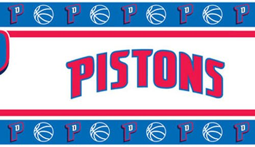 Three NBA Detroit Pistons Self Stick Wall Border by NBA