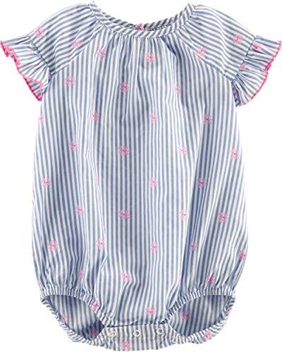 Osh Kosh Baby Girls Bodysuits, Pinstripe, 12 Months
