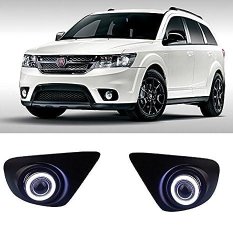 AupTech CCFL Angel Eye DRL luces antiniebla Bombillas halógenas H11 55 W para Dodge Journey JC 2013 - 2016/Fiat Freemont: Amazon.es: Coche y moto