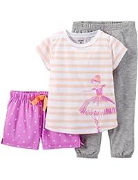 Little Girls' 3 Piece Graphic PJ Set (Toddler/Kid) -...