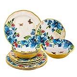 Cheap Gourmet Art 12-Piece Butterfly Melamine Dinnerware Set
