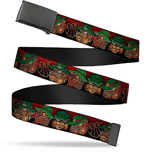 (Buckle-Down Men's Web Belt Tattoo Johnny Bulldog 1.5
