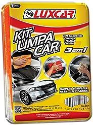 Kit Limpa Car ( Flanela/Esponja/Estopa) Luxcar Esponja: 15 Cm X 12,5 Cm X 5 Cm Flanela: 28 Cm X 28 Cm Estopa: