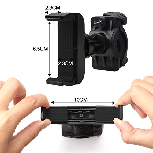 A SZCXTOP Bicycle and Motorcycle Phone Holder with 360 Degree Rotation Suitable For Mobile Phone/PDS/GPS/MP to Fix On The Cycle