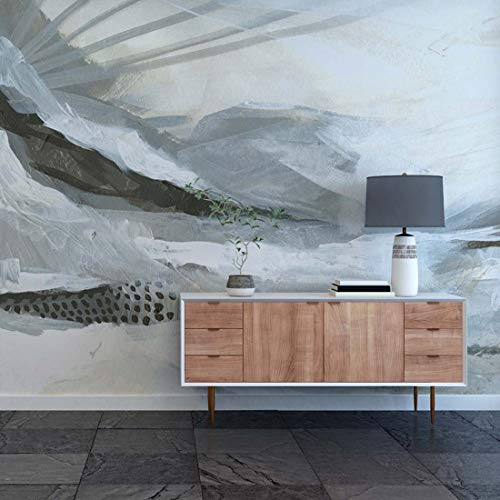 - Wall Mural - Neutral Painted Abstract Landscape. Easy to Apply and and Easy to Remove pre-Pasted Paper Mural. 9' Wide x 8' Tall. by Flipside.
