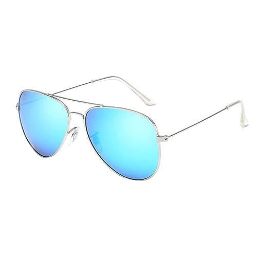 Heheja Donna Uomo Aviator Occhiali da Sole Metallo Telaio Lenti UV400 Eyewear
