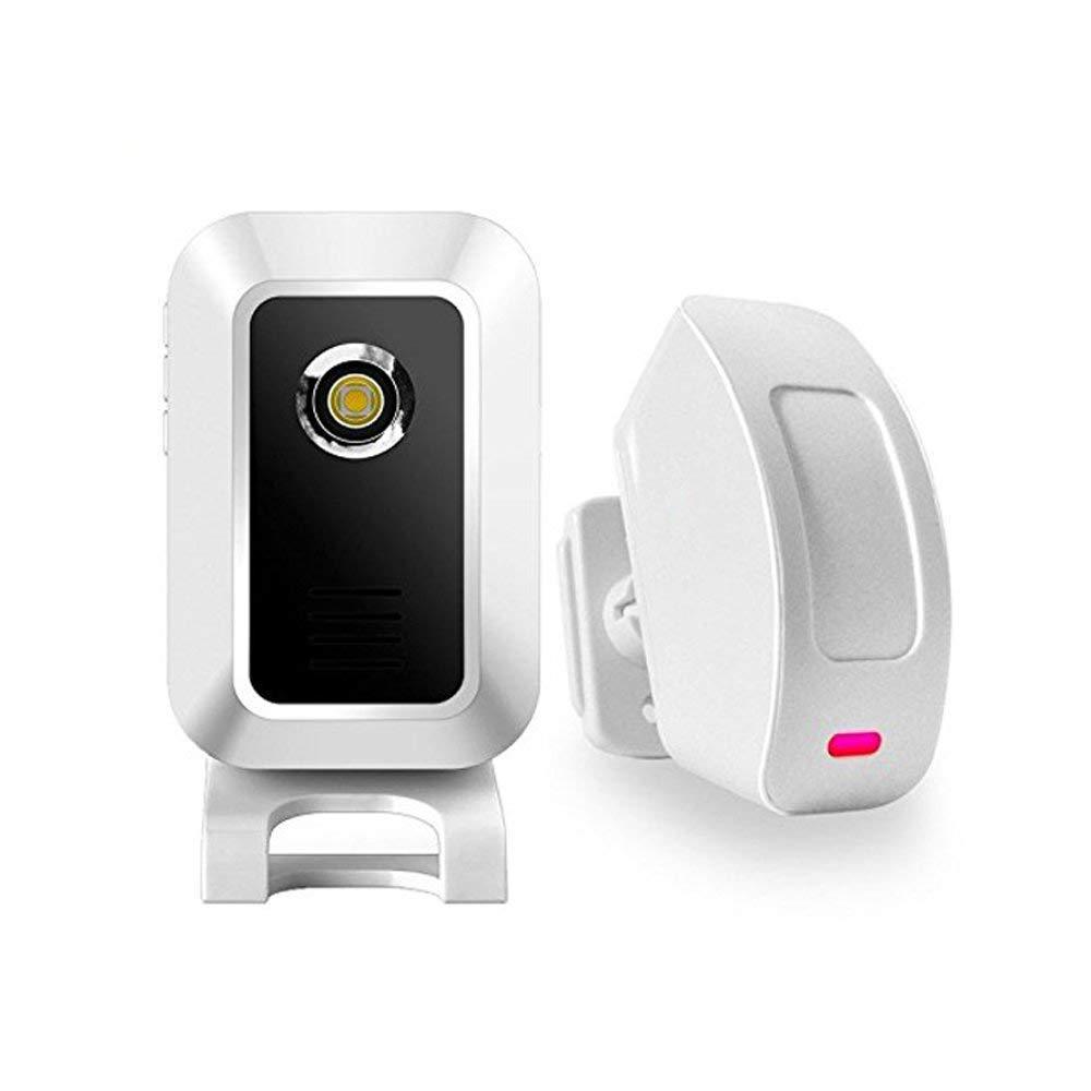 DLINMEI Split Wireless Infrared Welcome Sensor Doorbell Burglar Alarm With Night Light 1 Receiver And 1 Motion Sensor Detector