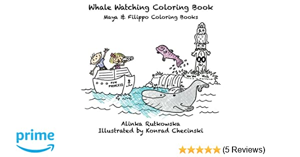 Whale Watching Coloring Book Maya Filippo Coloring Books