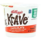 Kellogg's Krave Cereal-in-a-Cup, Milk Chocolate, 1.87 Ounce (Pack of 12)
