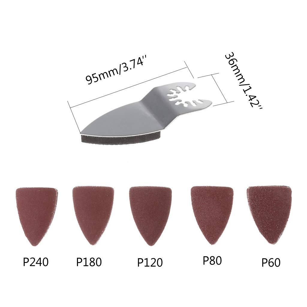 Ycncixwd Carta abrasiva disco abrasivo per utensile multifunzione oscillante Fein Dremel Bosch