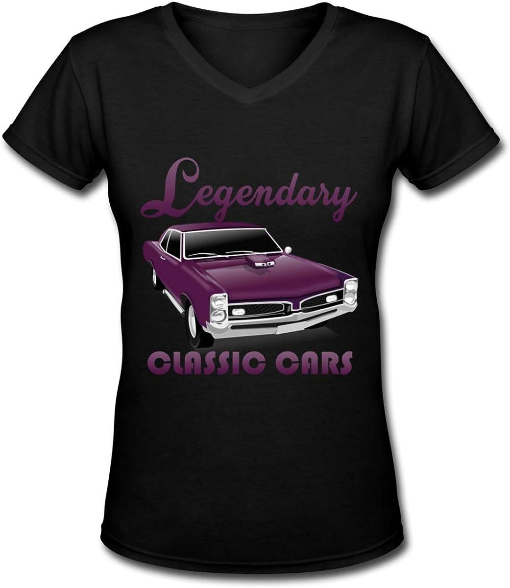 Legendary Classic Cars Womens V-Neck Short Sleeve Tee