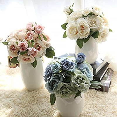 Rose Bouquet,Han Shi Artificial Fake Flowers Wedding Party Home Decor Floral Fake Flowers