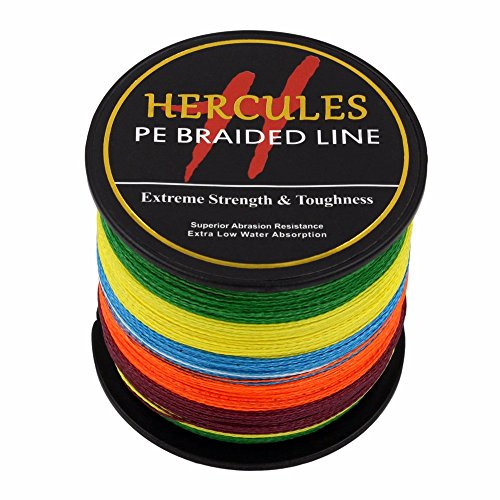 HERCULES 300m 328yds Multicolor 6lbs-100lbs Pe Braided Fishing Line 4 Strands (60lb/27.2kg 0.40mm)