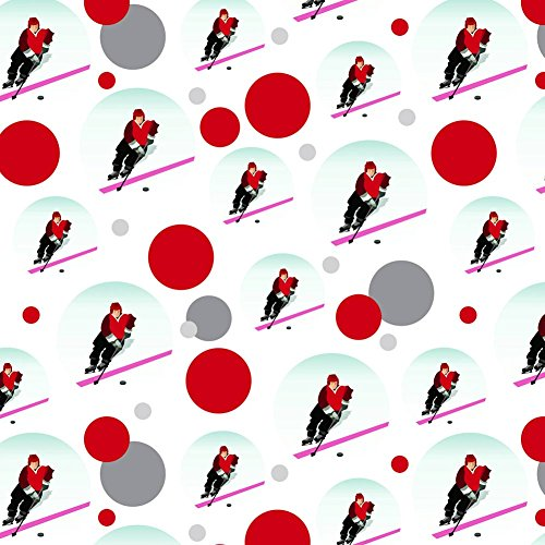 - Premium Gift Wrap Wrapping Paper Roll Pattern - Sports and Hobbies - Ice Hockey Player Red Jersey