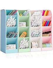 4 st. pennhållare organisering, skrivbord pennhållare pennhållare förvaringslåda penselbehållare organiserare kontorsmaterial skrivbord för kontor, multifunktionell för arrangör