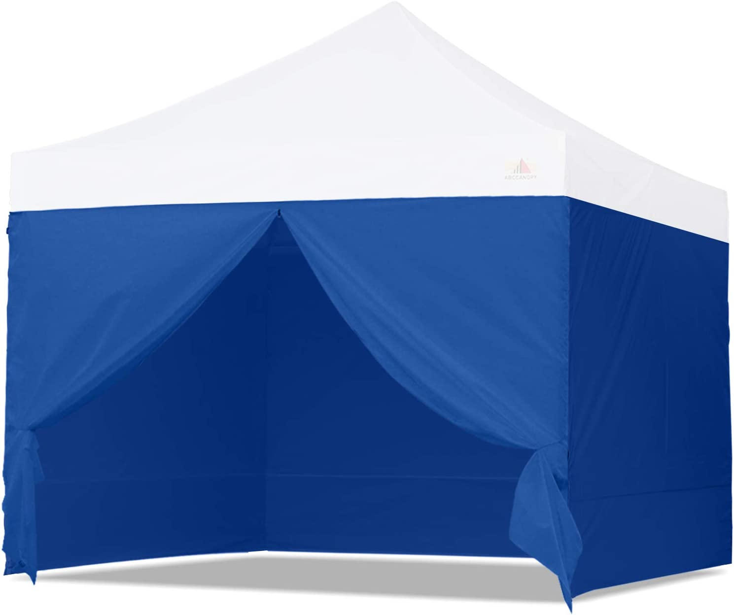 ABCCANOPY Sidewall Kit, Paint Booth Side Walls for 8x8 Feet Pop up Canopy, Beach Tent, Instant Shelter, 4 Walls ONLY, Blue
