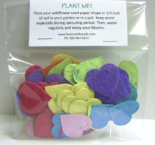 54 Bulk Wildflower Teeny Heart Seed Shapes in a Bag
