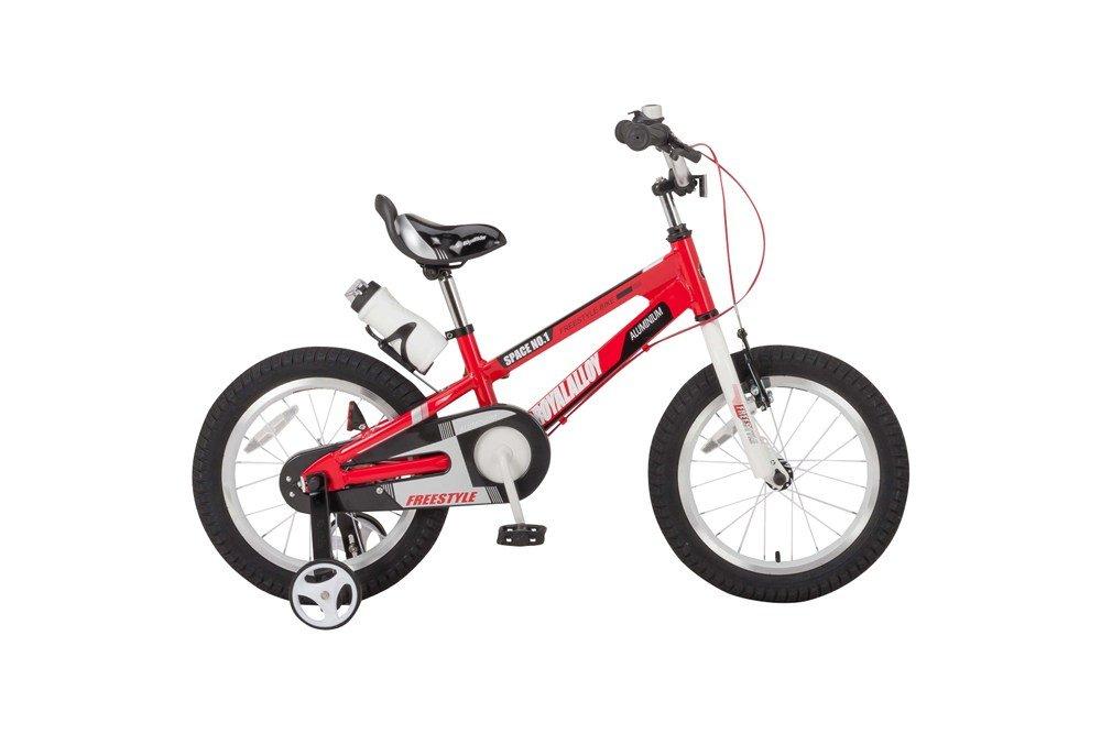ROYALBABY(ロイヤルベイビー) 16インチ 補助輪付き 子ども用 自転車 レッド [メーカー保証1年] ボトル&ボトルケージ付属 Vブレーキ チェーンケース RB-WE SPACE NO.1  レッド B073RYYV4J