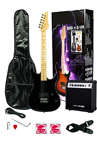 Directly Cheap 6 String Electric Guitar Pack Right Handed, Black Full 000-BT-GE93CO-BK+DVD