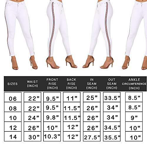 Skinny Mujer Blanco Xelay Para Vaqueros SY5nwA