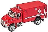 Walthers SceneMaster International 4300 EMS Ambulance, Red