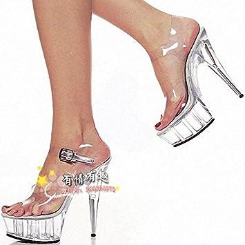 Cristal 15 Tacones De Zapatos Cm Transparente Boda LpjUVSqMGz