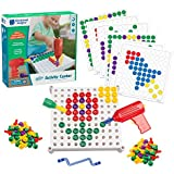 Educational Insights Design & Drill Activity Center: 146 Piece—Build & Learn, Fine Motor Skills & STEM Learning with Toy Drill