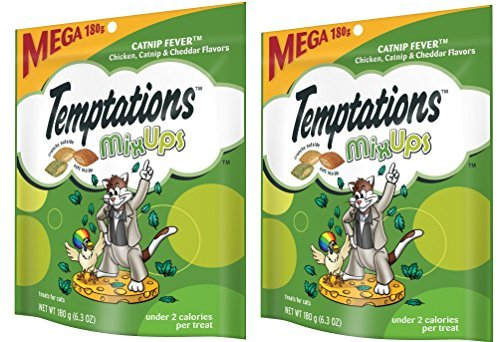 TEMPTATIONS MixUps Treats for Cats CATNIP FEVER Flavor IluTyU, 6.3 Ounces (Pack of 20) by Temptations