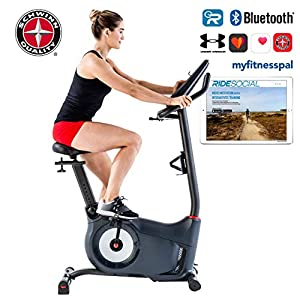 Schwinn 570U Exercise Bike 13.5 kg Flywheel Mass 25 Resistance Levels Connect Sound System and Integrated Fan RideSocial… 13