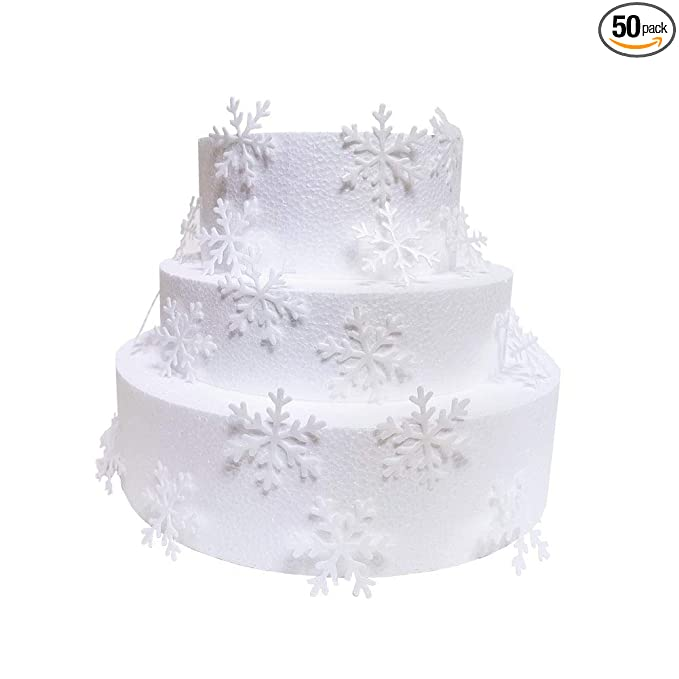 300x  Edible Snowflakes Christmas cupcake cake toppers decorations frozen diy