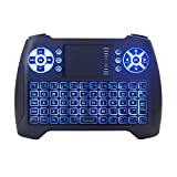 Nanle Wireless Mini Keyboard Blue Backlight 2.4g with Touch Screen for Android Tv