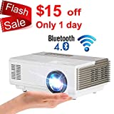 Pocket Wifi Wireless Bluetooth Mini Projector 1500 Lumen with HDMI Built-in Speaker Support