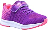 Gaatpot Boy's Girl's Fashion Sneakers Low-Top Athletic Trainers Velcro Running Sports Fitness Shoes Pink Toddler Size 8 UK Child = 26 EU