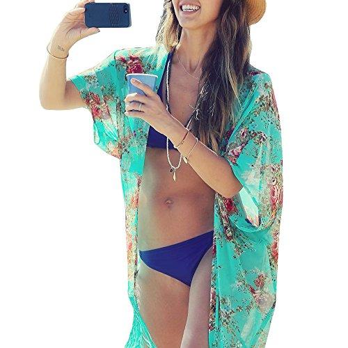 Womens Cover up Bohemia Tassel Swimsuit Beachwear Bikini Dress, H, O/S